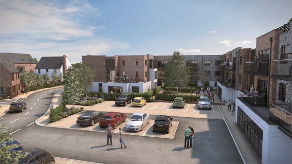 artist's impression of new homes in Rochford
